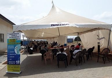 ガーナのPCR検査所